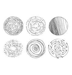 Grunge halftone drawing textures set vector