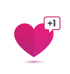 Heart like with notification vector