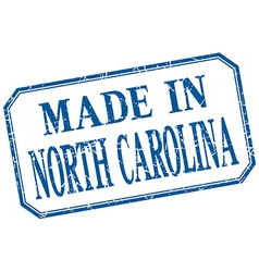 North carolina - made in blue vintage isolated vector