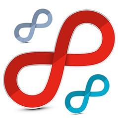 Paper Cut Infinity Symbols Set vector image vector image