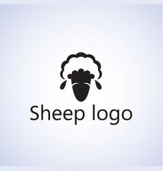 Sheep logo ideas design vector