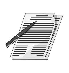 signature of documentsrealtor single icon in vector image