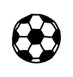 Soccer balloon drawing isolated icon vector