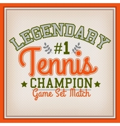 Tennis sport badge vector