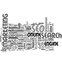 why should i consider a career in seo text word vector image vector image