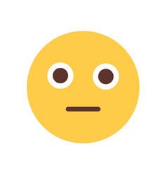 yellow cartoon face shocked emoji people emotion vector image