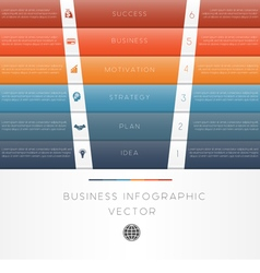 Template infographic colour strips 6 position vector