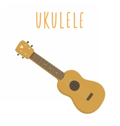 Ukulele hawaiian guitar isolated on white vector
