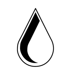 Water drop emblem isolated icon vector
