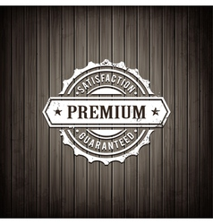 Premium seal wooden background vector