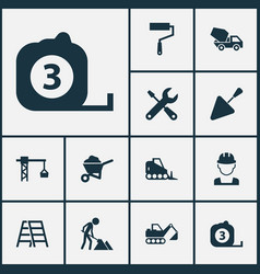 Industry icons set collection of lifting hook vector
