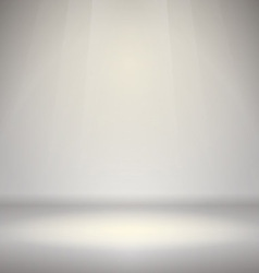 Empty room with light vector