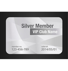 Silver vip club card vector