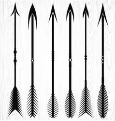 Arrow silhouettes vector