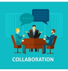 Flat collaboration icon vector