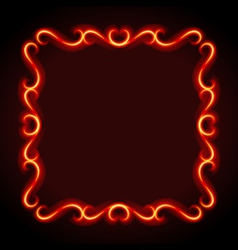 vintage frame from flame vector image
