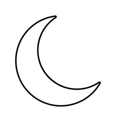 Moon line icon vector