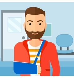 Man with broken arm vector