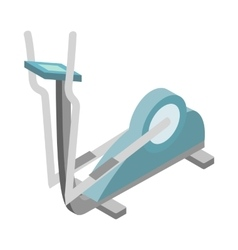 Elliptical walker trainer icon isometric 3d style vector