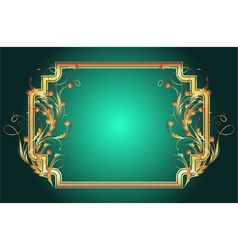 Background with golden ornament vector