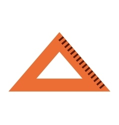 Triangle rule isolated icon design vector