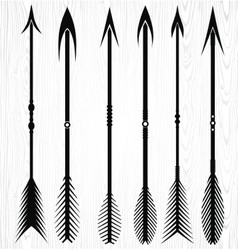 Arrow silhouettes vector
