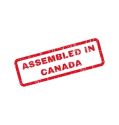 Assembled in canada text rubber stamp vector