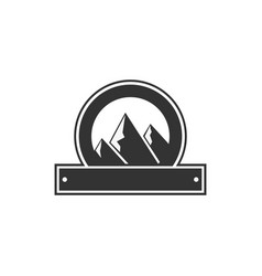 blank badge form with mountains good for vector image vector image