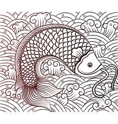 Chinese fish vector