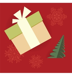 chrismas gift card vector image