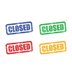 closed set vector image vector image