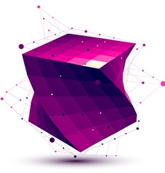 Colorful abstract deformed squared object with vector