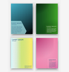 covers design geometric halftone gradients vector image