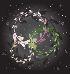 Created shiny laurel wreath on grey background vector