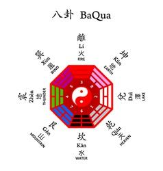 eight diagrams baqua vector image