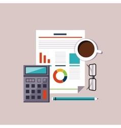 Financial accounting stock market analysis Budget vector image