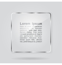 Glass framework on gray background vector image