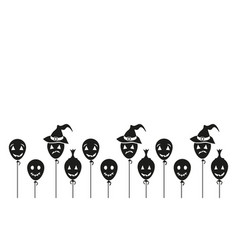 halloween cartoon background vector image vector image