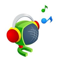 icon speaker vector image vector image