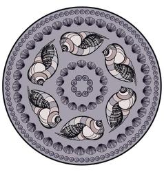 Mandala made of Seashells vector image vector image