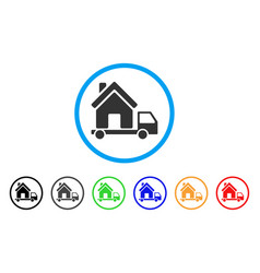 mobile house rounded icon vector image