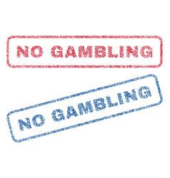 No gambling textile stamps vector