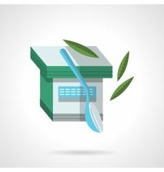 Organic yogurt flat color design icon vector image vector image
