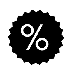 percent sign icon image vector image