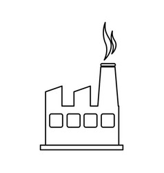 plant industrial building icon vector image