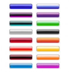 rectangle buttons vector image vector image