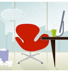 retro-modern office vector image vector image