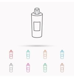 Shampoo bottle icon Liquid soap sign vector image