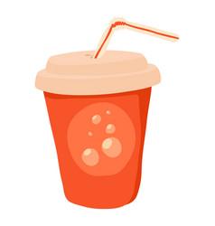 Soda icon cartoon style vector