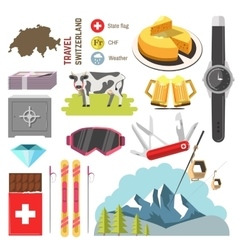 Switzerland travel collection vector
